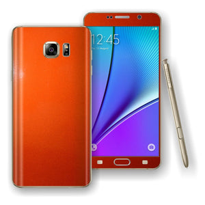 Samsung Galaxy NOTE 5 3M Fiery Orange Glossy Skin Wrap Decal Cover Protector by EasySkinz