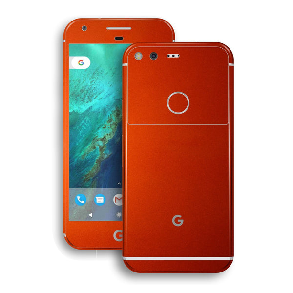 Google Pixel Glossy Fiery Orange Tuning Metallic Skin by EasySkinz