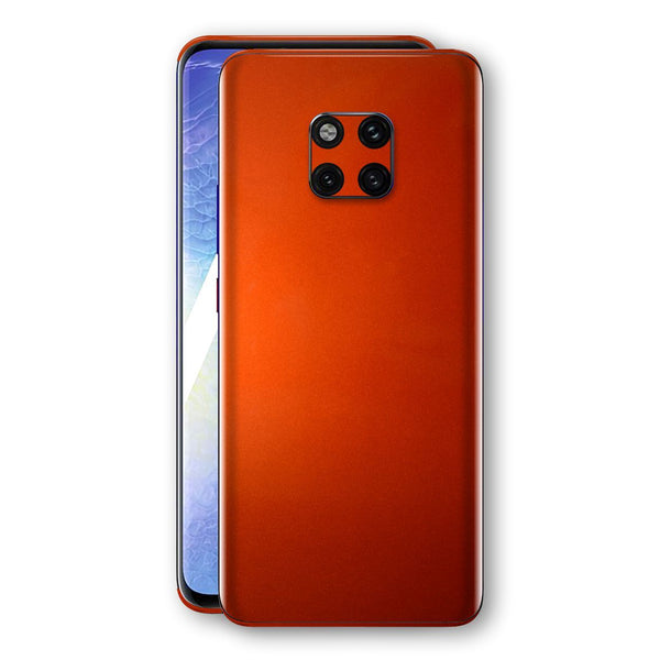 Huawei MATE 20 PRO Fiery Orange Tuning Metallic Skin, Decal, Wrap, Protector, Cover by EasySkinz | EasySkinz.com
