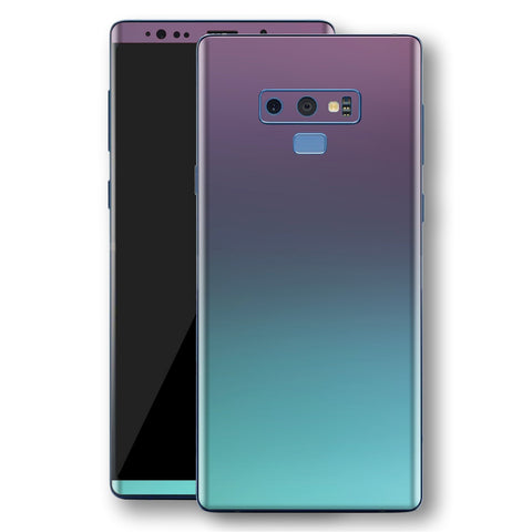 Samsung Galaxy NOTE 9 Chameleon Turquoise Lavender Skin Wrap Decal by EasySkinz