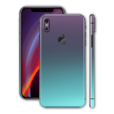iPhone X Chameleon Turquoise Lavender Colour-changing Skin, Wrap, Decal, Protector, Cover by EasySkinz | EasySkinz.com