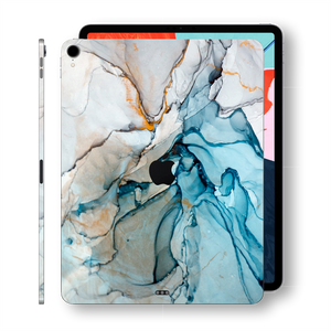 "iPad PRO 11"" inch 2018 Signature Marble Turquoise Printed Skin Wrap Decal Protector 