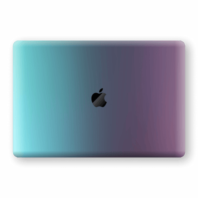 "MacBook Pro 15"" Touch Bar Chameleon Turquoise Lavender Skin Wrap Decal by EasySkinz"