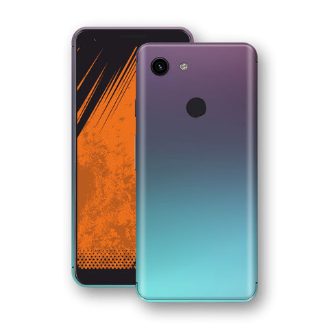 Google Pixel 3a Chameleon Turquoise Lavender Skin Wrap Decal by EasySkinz