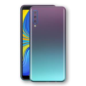 Samsung Galaxy A7 (2018) Chameleon Turquoise Lavender Skin Wrap Decal by EasySkinz