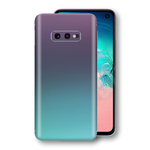Samsung Galaxy S10e Chameleon Turquoise Lavender Skin Wrap Decal by EasySkinz