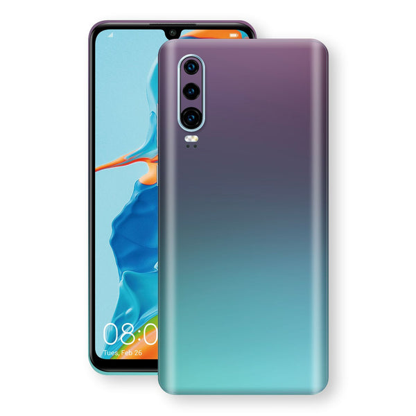 Huawei P30 Chameleon Turquoise Lavender Skin Wrap Decal by EasySkinz