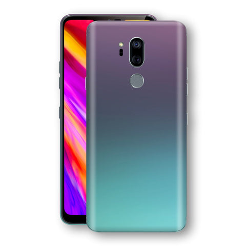 LG G7 ThinQ Chameleon Turquoise Lavender Skin Wrap Decal by EasySkinz