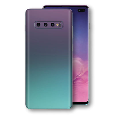 Samsung Galaxy S10+ PLUS Chameleon Turquoise Lavender Skin Wrap Decal by EasySkinz