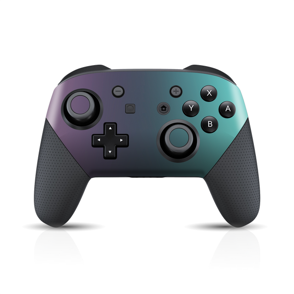 Nintendo Switch Pro Controller Chameleon Turquoise Lavender Skin Wrap Sticker Decal Cover Protector by EasySkinz