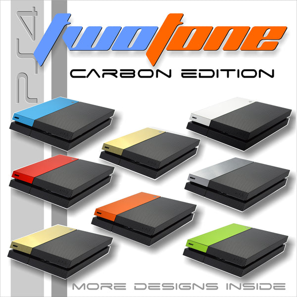 ps4 carbon fiber two tone skin cover wrap