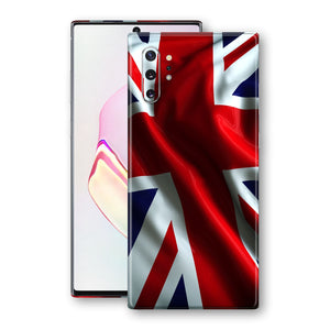 Samsung Galaxy NOTE 10+ PLUS Print Custom Signature UNION JACK BRITAIN BRITISH Skin Wrap Decal by EasySkinz - Design 2