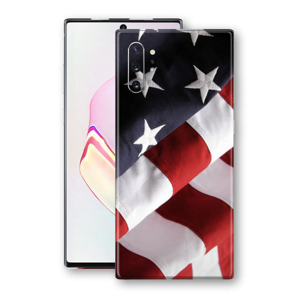 Samsung Galaxy NOTE 10+ PLUS Print Custom Signature USA United States Of America Flag Skin Wrap Decal by EasySkinz - Design 2