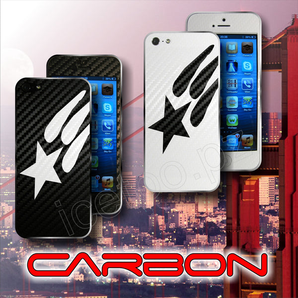 3D CARBON Fiber American FULL BODY USA Skin  for iPhone 5