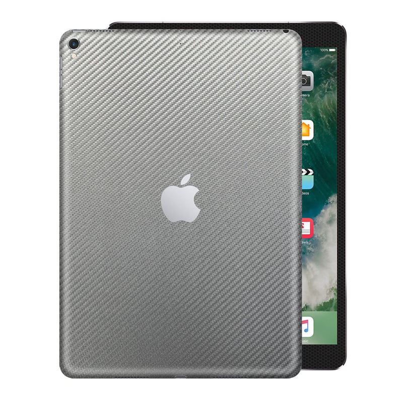 "iPad PRO 12.9"" 2nd Generation 2017 Grey 3D Textured CARBON Fibre Fiber Skin Wrap Sticker Decal Cover Protector by EasySkinz"