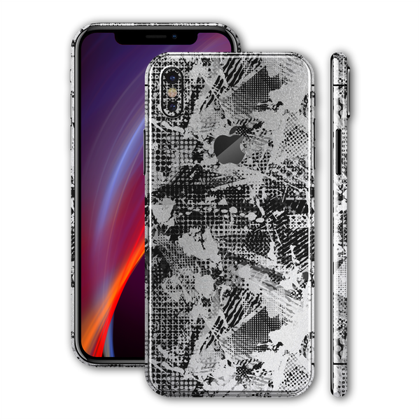 iPhone XS MAX Print Custom Signature Abstract Grunge Skin Wrap Decal by EasySkinz