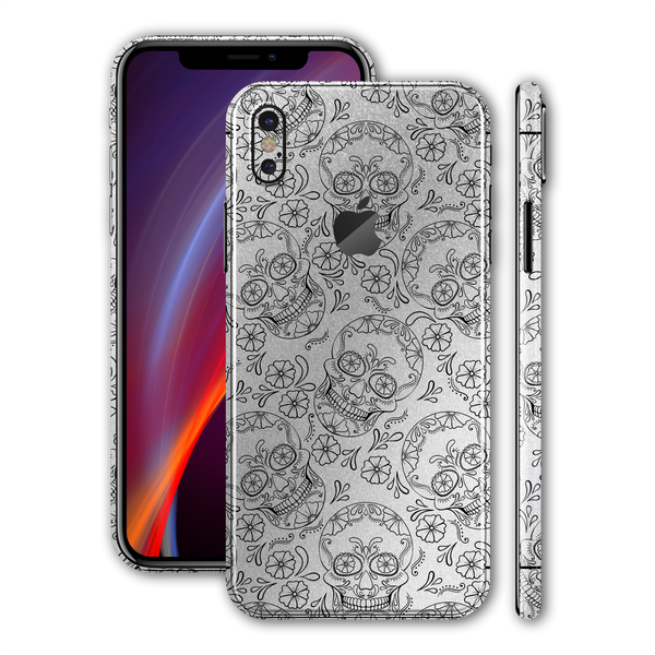 iPhone XS Print Custom Signature Calavera Sugar Skull Skin Wrap Decal by EasySkinz