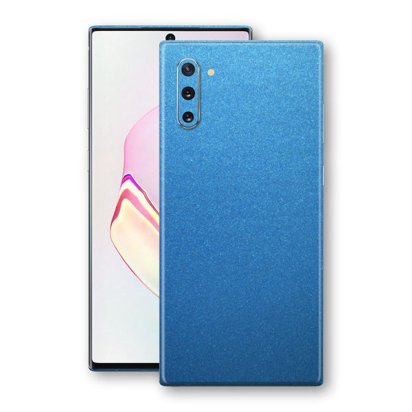 Samsung Galaxy NOTE 10 Azure Blue Glossy Metallic Skin, Decal, Wrap, Protector, Cover by EasySkinz | EasySkinz.com