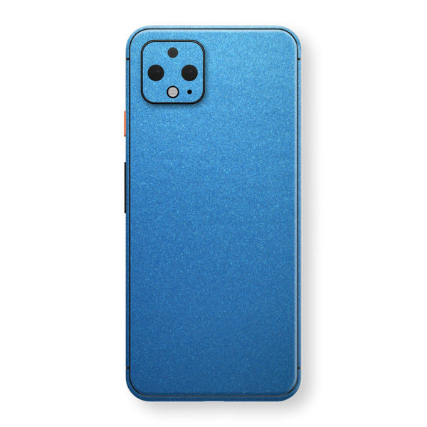 Google Pixel 4 Azure Blue Matt Metallic Skin, Decal, Wrap, Protector, Cover by EasySkinz | EasySkinz.com