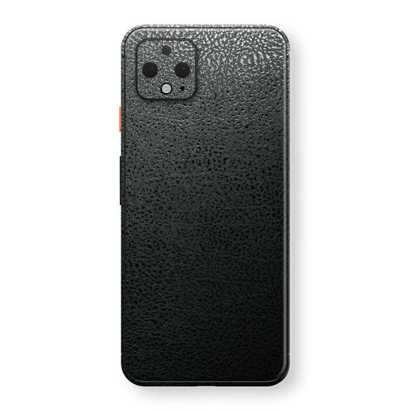 Google Pixel 4 Luxuria BLACK Leather Skin Wrap Decal Protector | EasySkinz