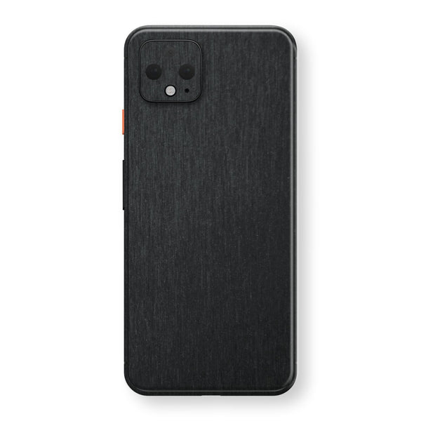 Google Pixel 4 Brushed Black Metallic Metal Skin, Decal, Wrap, Protector, Cover by EasySkinz | EasySkinz.com