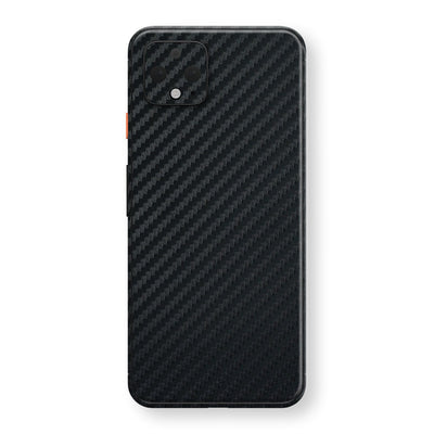 Google Pixel 4 3D Textured Black Carbon Fibre Fiber Skin, Decal, Wrap, Protector, Cover by EasySkinz | EasySkinz.com