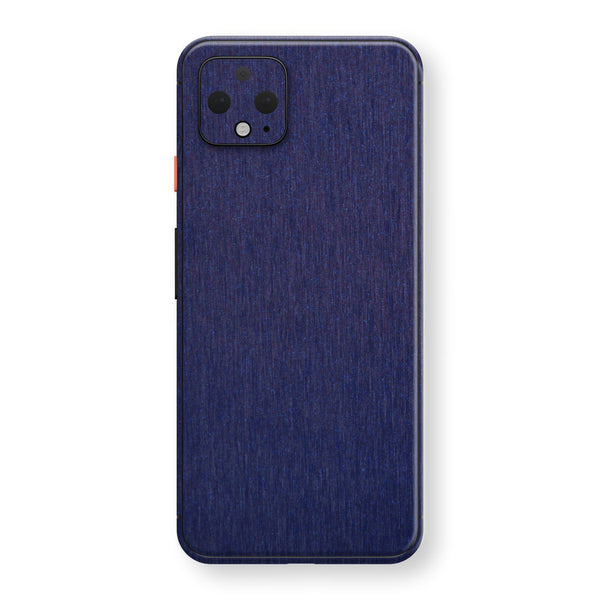 Google Pixel 4 Brushed Blue Metallic Metal Skin, Decal, Wrap, Protector, Cover by EasySkinz | EasySkinz.com