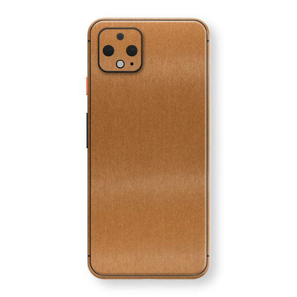 Google Pixel 4 Brushed Copper Metallic Metal Skin, Decal, Wrap, Protector, Cover by EasySkinz | EasySkinz.com