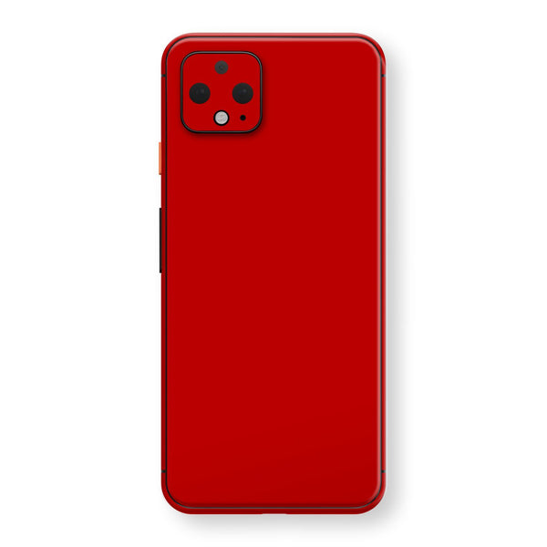 Google Pixel 4 Deep Red Glossy Gloss Finish Skin, Decal, Wrap, Protector, Cover by EasySkinz | EasySkinz.com