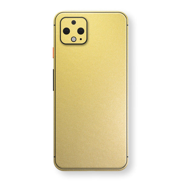 Google Pixel 4 Gold Matt Metallic Skin, Decal, Wrap, Protector, Cover by EasySkinz | EasySkinz.com