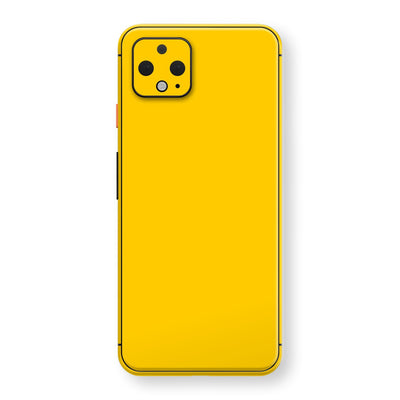 Google Pixel 4 Golden Yellow Glossy Gloss Finish Skin, Decal, Wrap, Protector, Cover by EasySkinz | EasySkinz.com