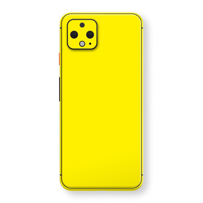 Google Pixel 4 Lemon Yellow Glossy Gloss Finish Skin, Decal, Wrap, Protector, Cover by EasySkinz | EasySkinz.com