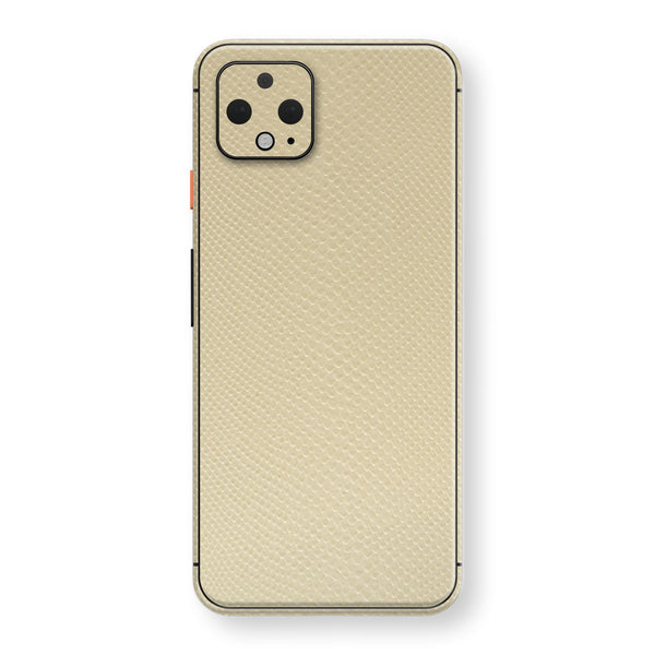 Google Pixel 4 Beige Mamba Snake Leather Skin, Decal, Wrap, Protector, Cover by EasySkinz | EasySkinz.com