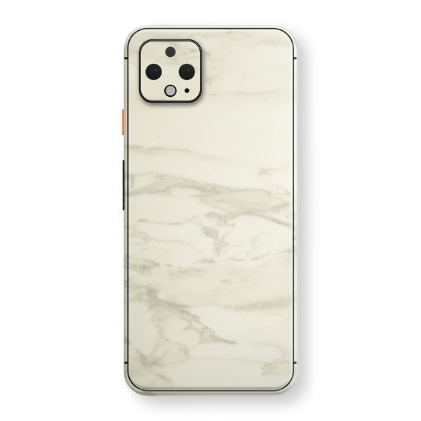 Google Pixel 4 Luxuria White Marble Skin Wrap Decal Protector | EasySkinz
