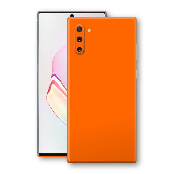 Samsung Galaxy NOTE 10 Orange Glossy Gloss Finish Skin, Decal, Wrap, Protector, Cover by EasySkinz | EasySkinz.com
