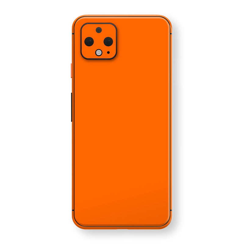 Google Pixel 4 Orange Glossy Gloss Finish Skin, Decal, Wrap, Protector, Cover by EasySkinz | EasySkinz.com