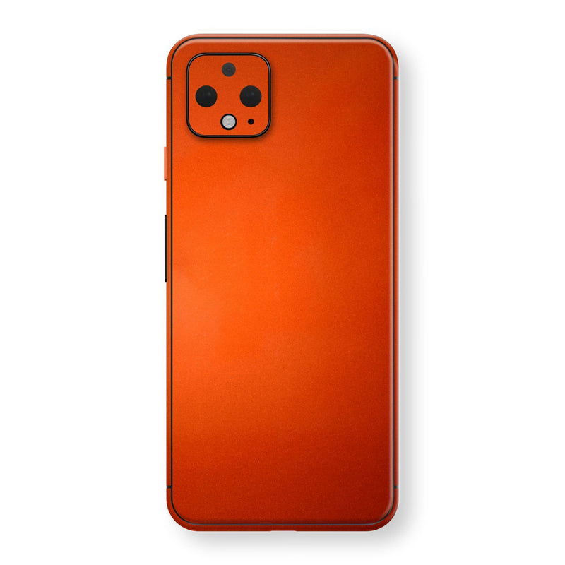 Google Pixel 4 Fiery Orange Tuning Metallic Skin, Decal, Wrap, Protector, Cover by EasySkinz | EasySkinz.com