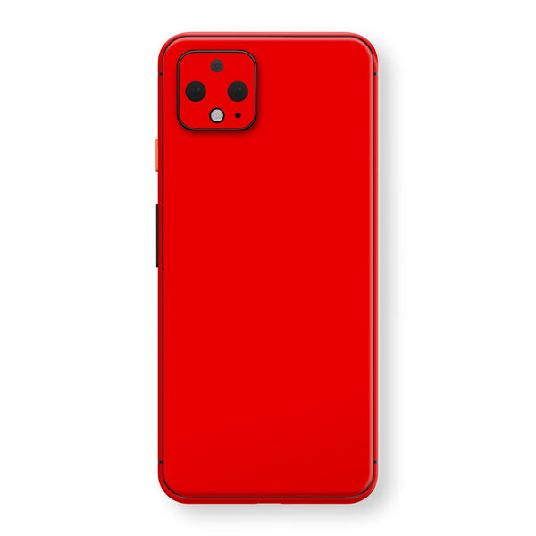Google Pixel 4 Bright Red Glossy Gloss Finish Skin, Decal, Wrap, Protector, Cover by EasySkinz | EasySkinz.com