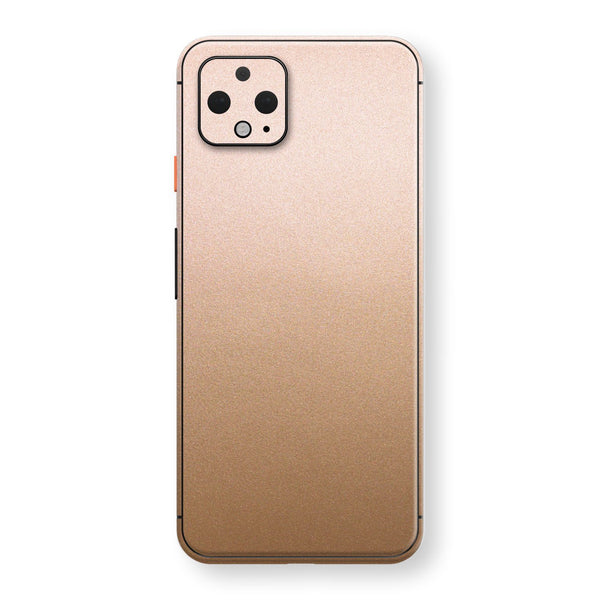 Google Pixel 4 Luxuria Rose Gold Metallic Skin Wrap Decal Protector | EasySkinz