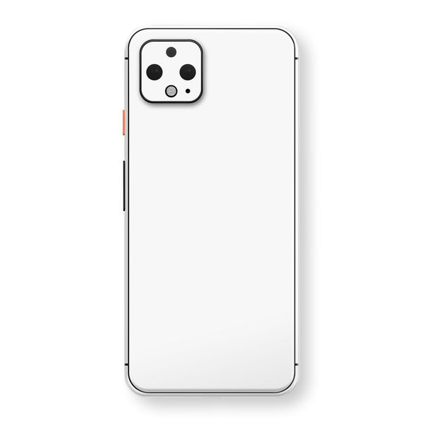 Google Pixel 4 XL White Glossy Gloss Finish Skin, Decal, Wrap, Protector, Cover by EasySkinz | EasySkinz.com