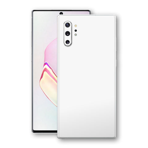 Samsung Galaxy NOTE 10+ PLUS White Glossy Gloss Finish Skin, Decal, Wrap, Protector, Cover by EasySkinz | EasySkinz.com