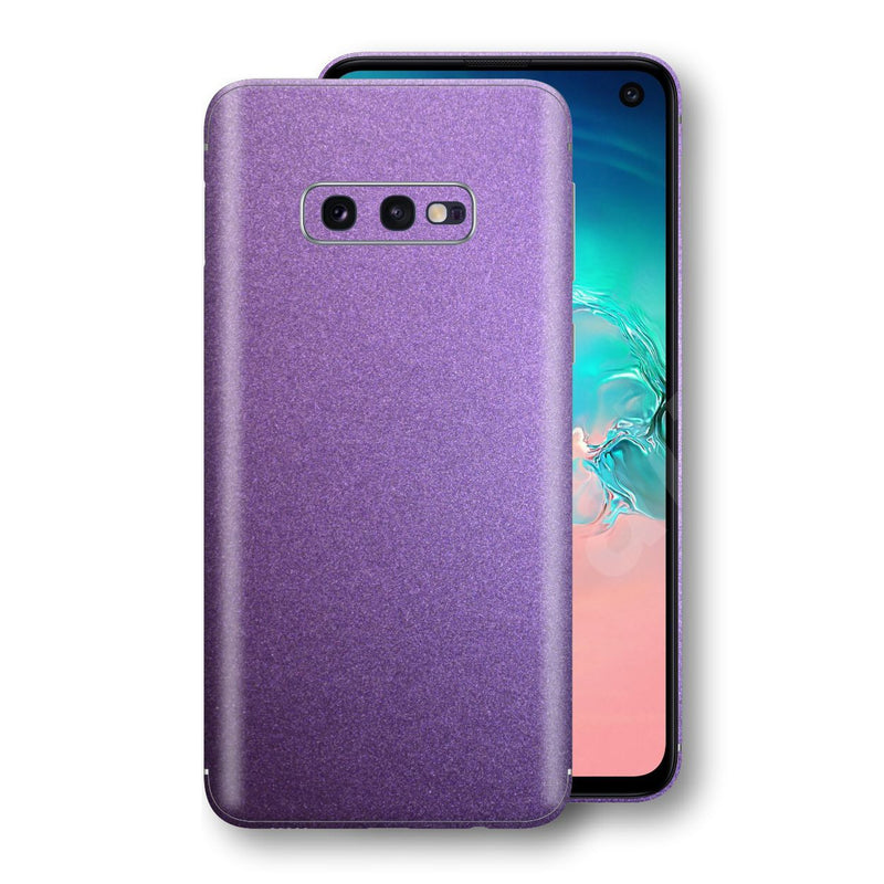 Samsung Galaxy S10e Violet Matt Metallic Skin, Decal, Wrap, Protector, Cover by EasySkinz | EasySkinz.com