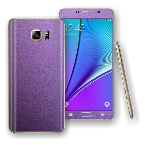 Samsung Galaxy NOTE 5 Violet Matt Metallic Skin Wrap Decal Cover Protector by EasySkinz