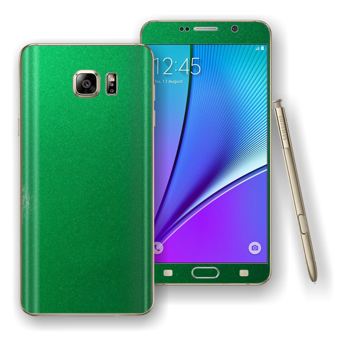 Samsung Galaxy NOTE 5 3M Viper Green Glossy Skin Wrap Decal Cover Protector by EasySkinz