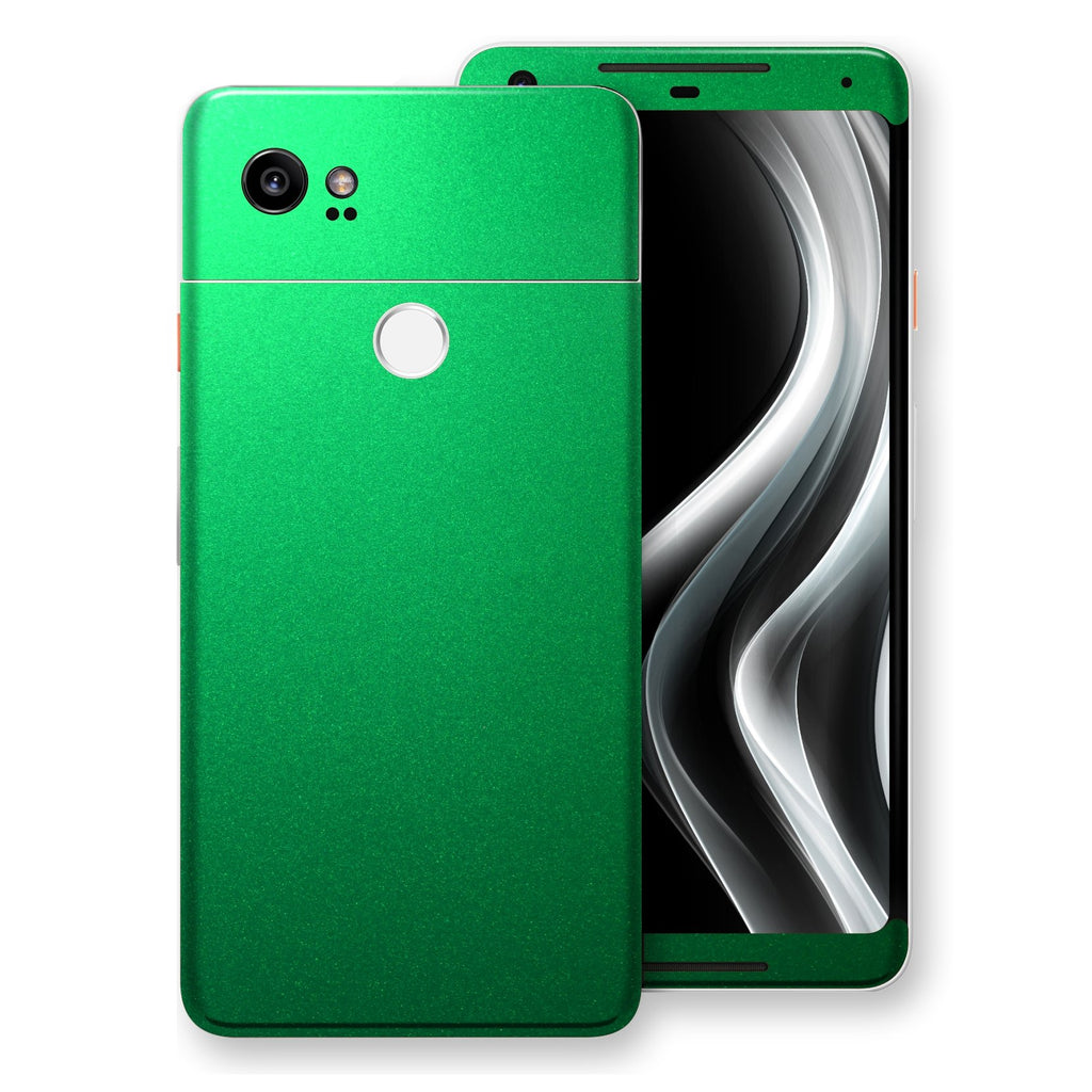 Google Pixel 2 XL Viper Green Tuning Metallic Skin, Decal, Wrap, Protector, Cover by EasySkinz | EasySkinz.com