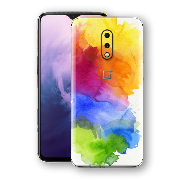 OnePlus 7 Print Custom Signature AQUARELLE Skin Wrap Decal by EasySkinz
