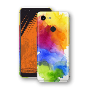 Google Pixel 3 Print Custom Signature AQUARELLE Skin Wrap Decal by EasySkinz