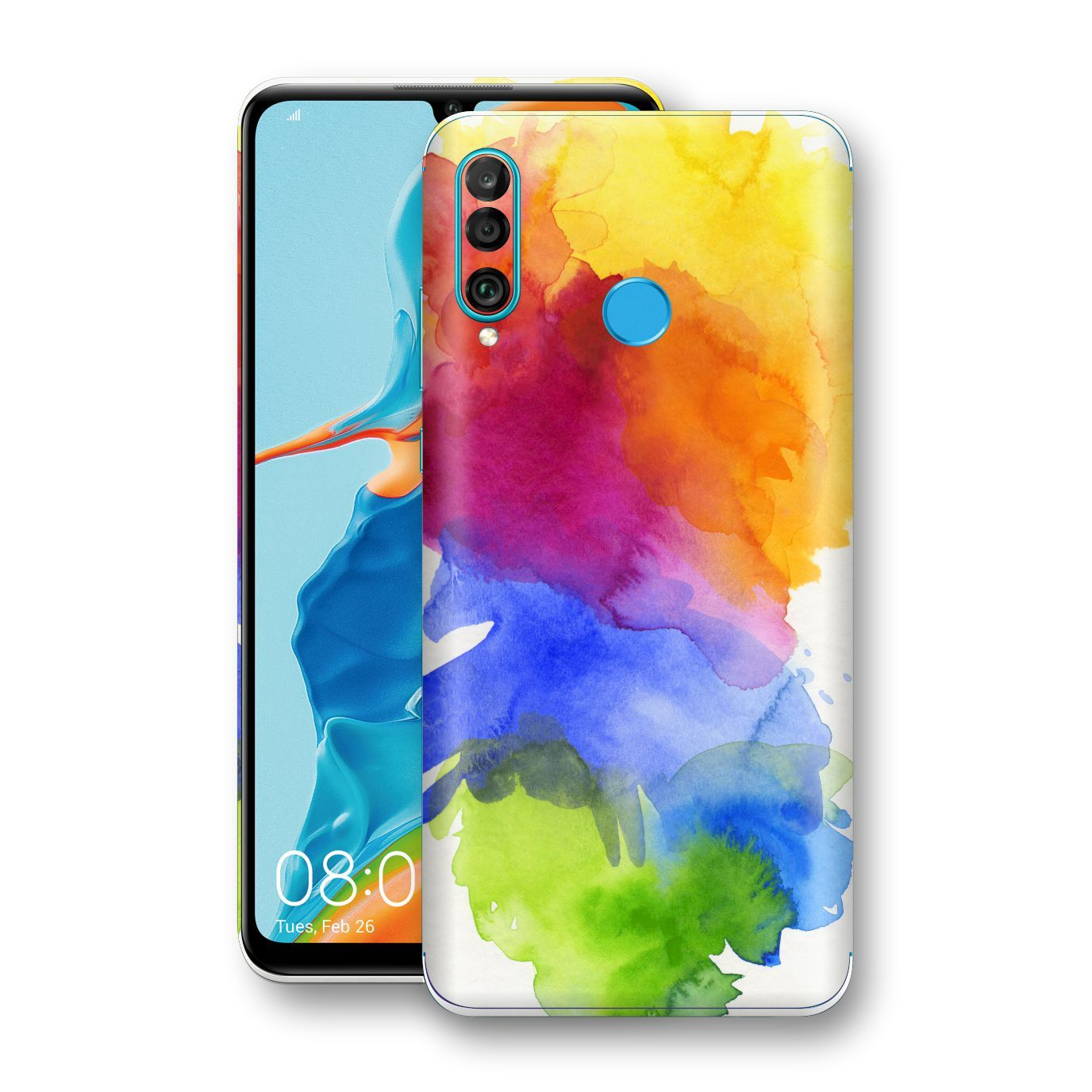 Huawei P30 LITE Print Custom Signature AQUARELLE Skin Wrap Decal by EasySkinz