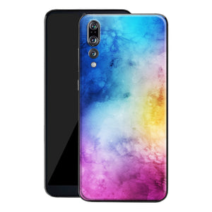 Huawei P20 PRO Print Custom Signature Watercolour Purple-Blue Skin Wrap Decal by EasySkinz