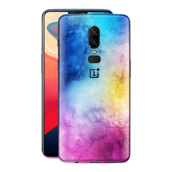 OnePlus 6 Signature Watercolour Skin Wrap Decal Cover Blue Pink Yellow Purple by EasySkinz